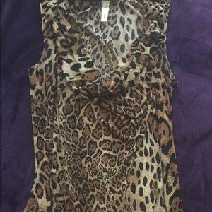 Tops - Leopard Cowl Neck Spring Top